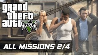 GTA V - All Missions 100% Gold Medal [2/4] (HD 60FPS)