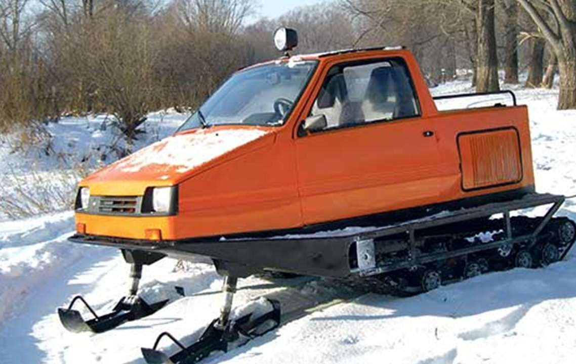 Снегоходы из машины своими руками