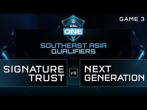 Signature Trust vs Next Generation - ESL One Manila SEA Qual