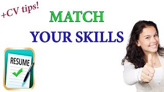 Match Your Skills To A Job - JOB SEARCH STRATEGIES