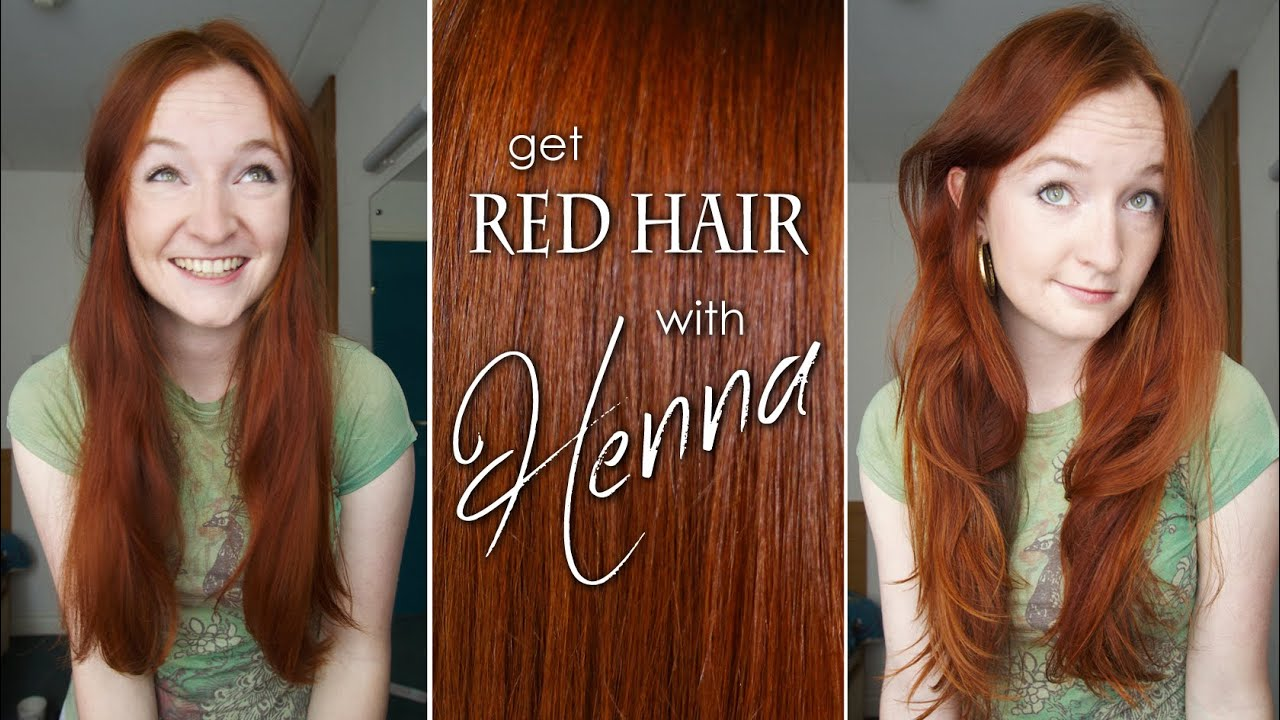 How To Dye Your Hair Red With Henna Youtube