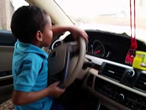 7 years old driving a car (in sudan)