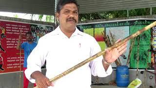 OL24 Silambam Kuthuvarisai Varmakalai stick fencin