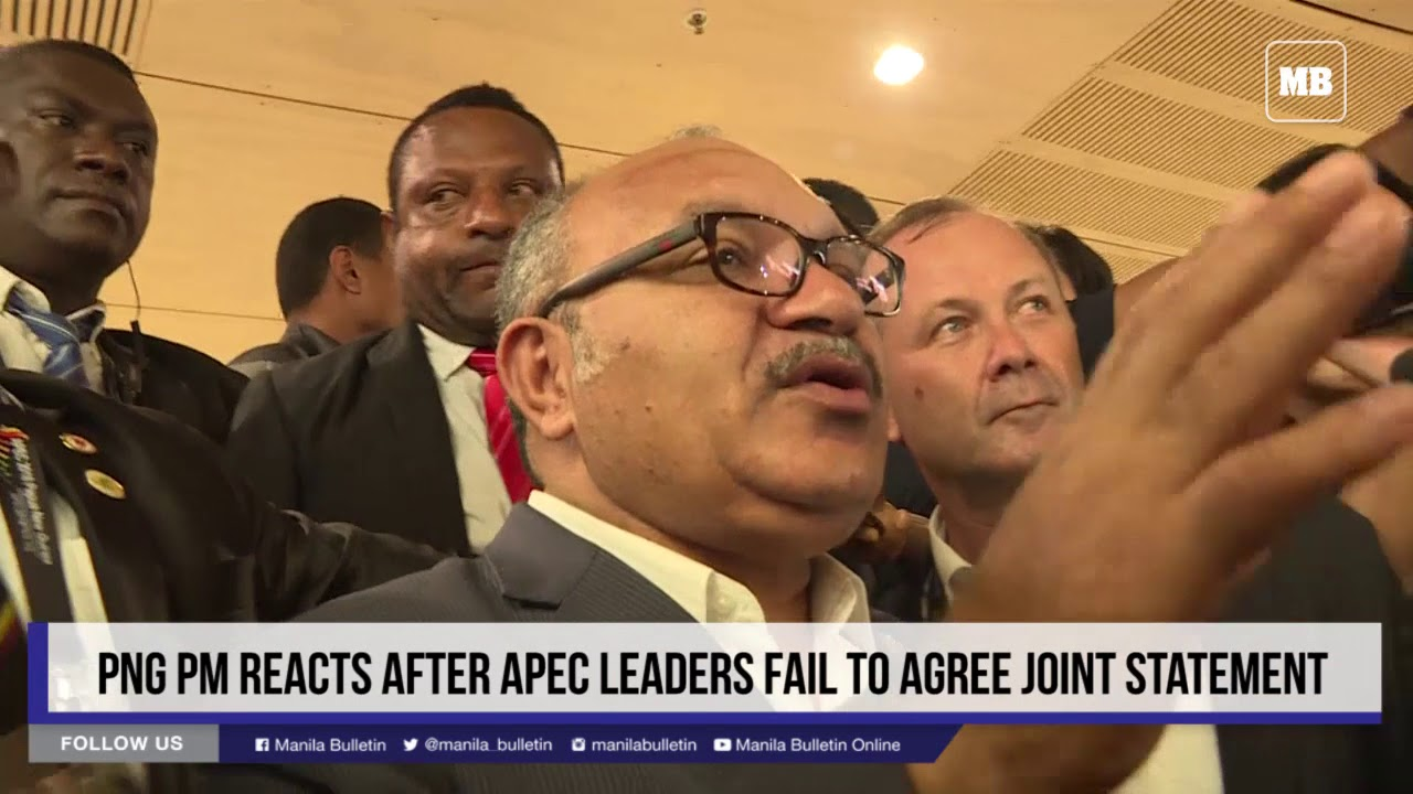 PNG PM reacts after APEC leaders fail to agree joint statement