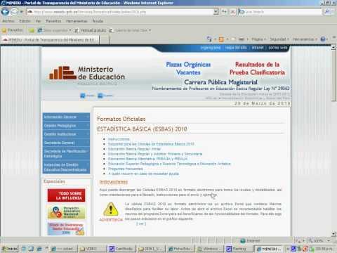 Descarga de Formato Electronico ESBAS 2010