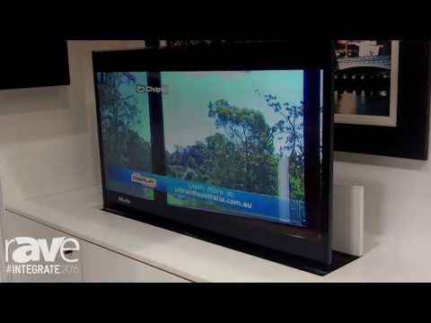 Integrate 2016: Ultralift Australia Displays the Phoenix Table Top TV Concealment System