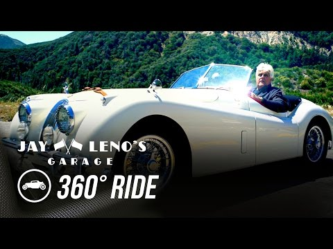 Take a 360˚ Virtual Reality Drive with Jay Leno in a 1954 Jaguar XK120! - Jay Leno's Garage