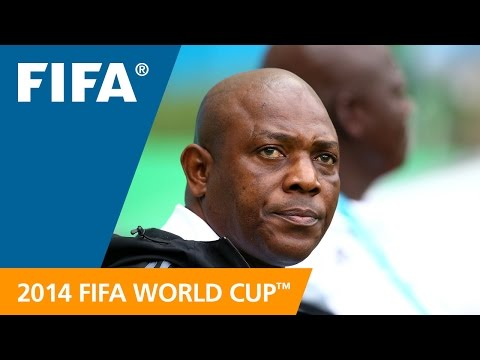 Nigeria's Stephen KESHI Final Draw reaction