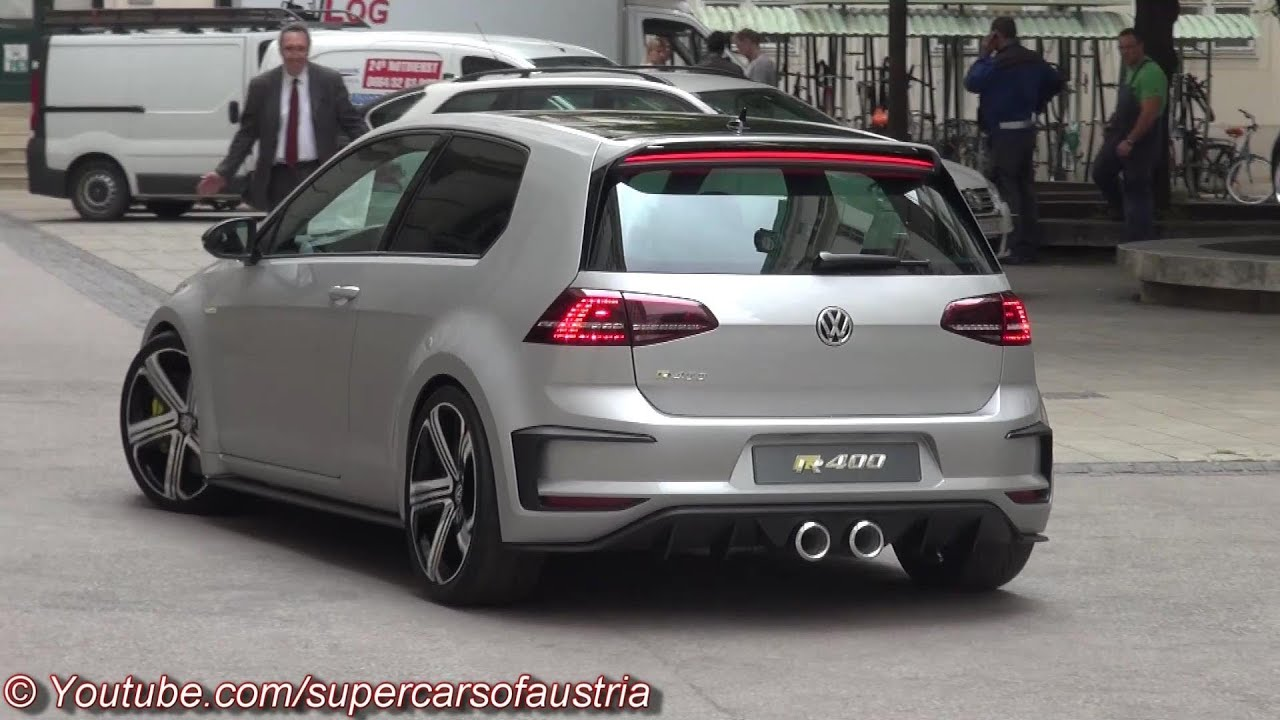 2015 VW Golf R400 - Start Up, Sound and more - YouTube