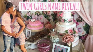 TEEN PARENTS BABY SHOWER + TWIN GIRLS NAME REVEAL!!