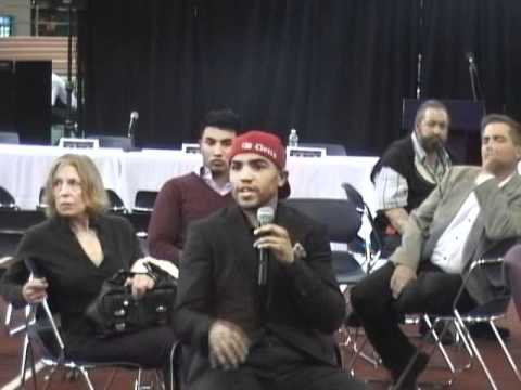 Victor Ortiz Speaks To Rice High School Students From NY About Family Challenges - 04/14/2011