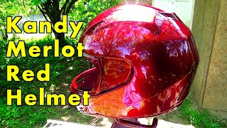 Motorcycle Helmet Painted Candy Merlot Red / ALLKANDY WET WET PLUS KANDY PAINT - BRANDYWINE