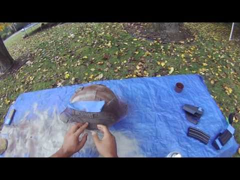 How to Spray Paint your Airsoft Helmet Snakeskin