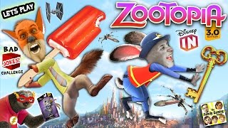 SLOTH UNBOXING? Lets Play DISNEY INFINITY 3.0 Zootopia Challenge w/ Nick & Judy (FGTEEV CHALLENGE)