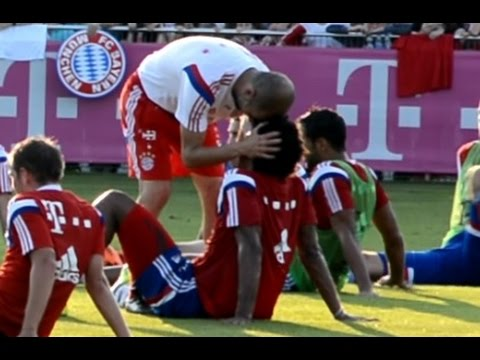 Funny Pep Guardiola hugging Dante - FC Bayern Munich