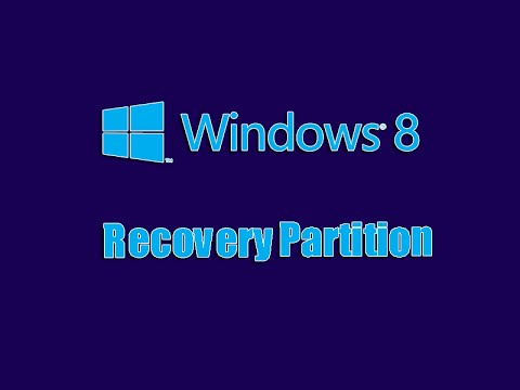 Windows 8 Bootable Recovery Partition