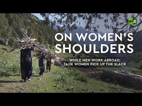 On women's shoulders