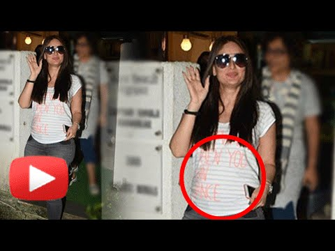 SPOTTED : Kareena Kapoor's BABY BUMP Caught On Camera