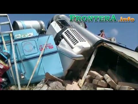 Vuelca tráiler en carretera Tecate - Ensenada