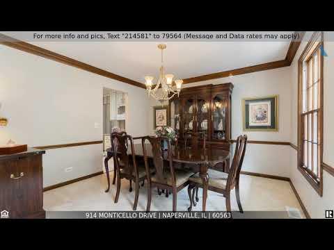 Priced at $589,000 - 914 Monticello Drive, NAPERVILLE, IL 60563