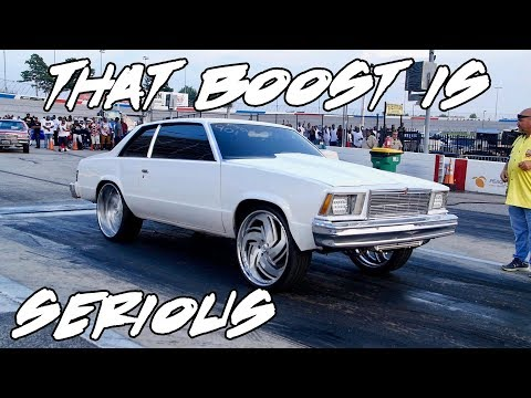 THIS TURBO MALIBU ON 24 INCH RIMS HIT LIGHT SPEED WHEN THE BOOST CAME IN!!