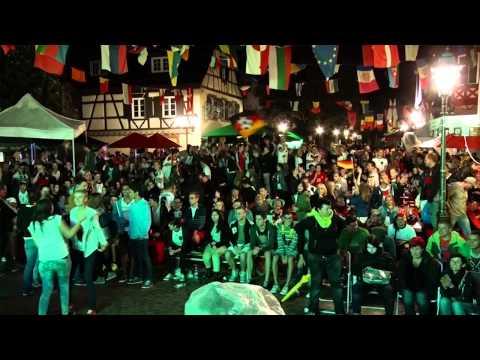 WM 2014: Mario Goetze schießt 1:0 # Public-Viewing Haslach im Kinzigtal