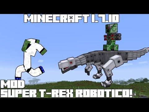 Minecraft 1.7.10 MOD SUPER T-REX ROBÓTICO!