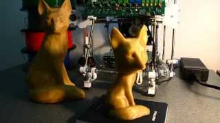 Bobble head fox from 3D scan