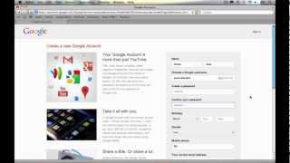 How to Create a YouTube Account 2013