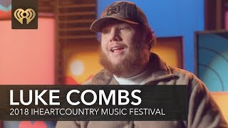 Download Lagu Luke Combs Talks About Signing A Prosthetic Leg For A Fan | 2018 iHeartCountry Festival Gratis STAFABAND