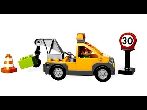 Мультик про машинки Лего - Эвакуируем машину на штраф стоянку за неправильную парковку