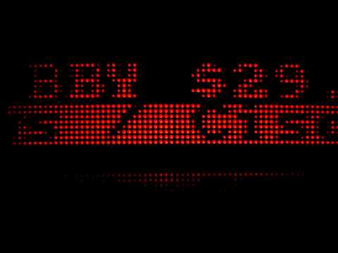 TKRTAP Bluetooth Ticker Tape LED Panels Demo