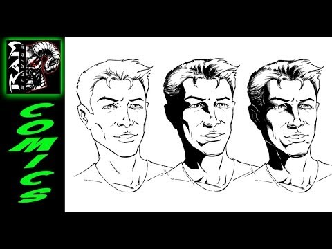 How To Shade Comic Book Art - Tutorial in Sketchbook Pro - Narrated by Robert Marzullo