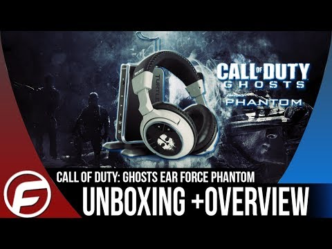 Call of Duty Ghosts EAR FORCE PHANTOM Wireless Gaming Headset UNBOXING + OVERVIEW Turtle Beach