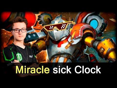 Miracle absolute world MMR record sick Clockwerk plays — Dota 2