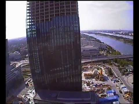 VIENNA'S HIGHEST LEVEL: DC TOWER 1, Insane 3D FPV RC Helicopter Stunts Building Heli Skyscraper Top
