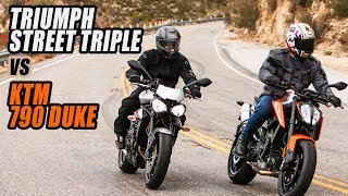 2019 KTM 790 Duke vs Triumph Street Triple R Comparison