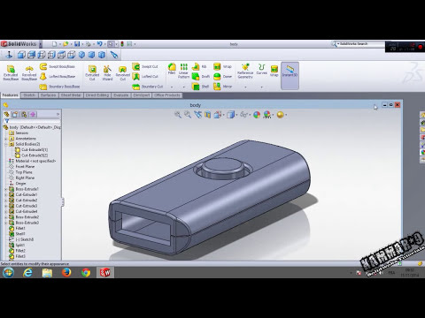 Solidworks Tutorial #13  USB Flash Drive in solidworks part 01