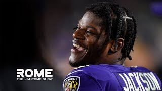 Give Lamar Jackson The MVP Trophy RIGHT NOW! | The Jim Rome Show