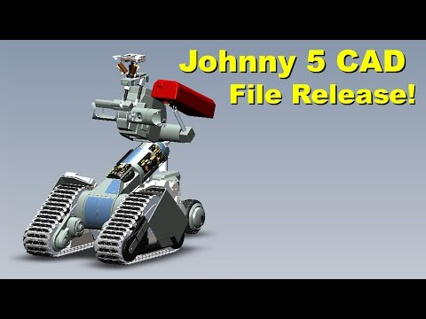 XRobots - Short Circuit Johnny 5, Open Source CAD File Release by Input-Inc!