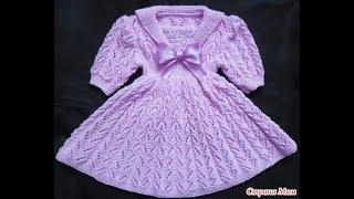 Вязаные Детские Платья Спицами - 2018 / Knitted Children's Dresses with Knitting Needles