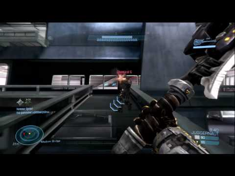 Halo Reach: Beta Juggernaut Gameplay