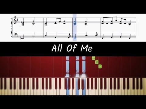 Download  How to play piano part of All Of Me by John Legend Gratis, download lagu terbaru