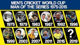 Men's Cricket World Cup Man Of The Series List From 1975 to 2015
