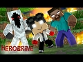 Minecraft: WHO'S YOUR FAMILY? - O BEBÊ SINISTRO DA ENTITY 303 E DO HEROBRINE!