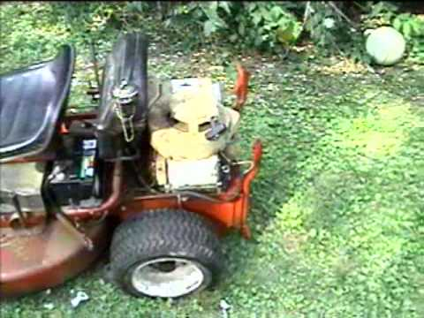My new/old Snapper Ride Mower Startup