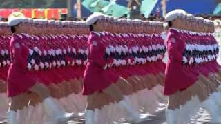 Chinese Woman in Military Parade 2009
