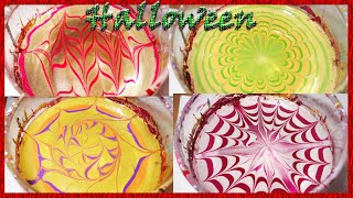 4 easy water marble for beginners (Halloween & Fall)