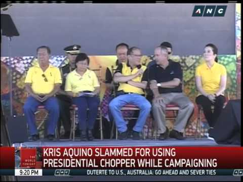 Aquino, Palace defend Kris' use of presidential chopper