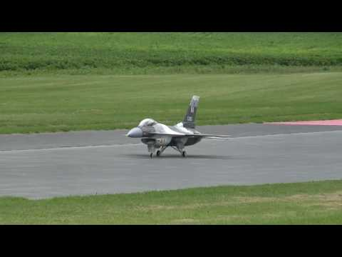 BIG F 16 turbine RC JET AIRPLANE 150 MPH SMMAC airfeild 7-5-2010